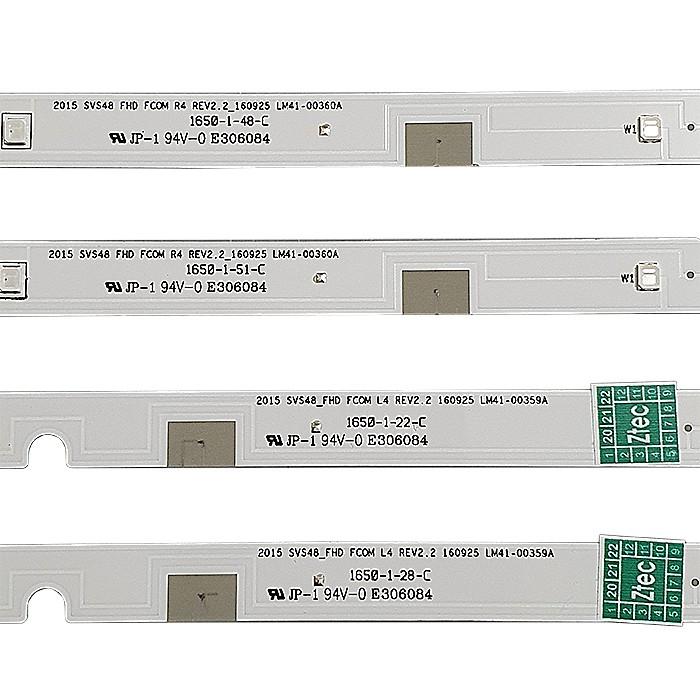 KIT 8 BARRAS LED SAMSUNG UN48J5200AG 4x LM41-00359A + 4x LM41-00360A REV2.2 160925
