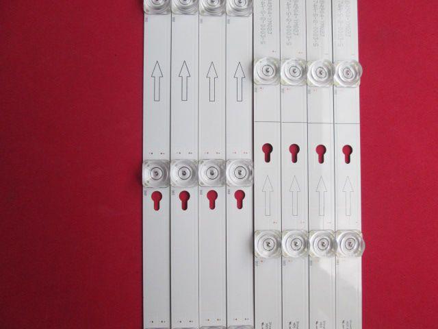 KIT 8 BARRAS LED TV TCL MODELO L49S4900FS CÓDIGO VS-4C-LB4904-YM02J / VS-4C-LB4905-YM01J