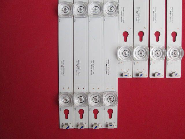 KIT 8 BARRAS LED TV TCL MODELO L49S4900FS CÓDIGO VS-4C-LB4904-YM05J / VS-4C-LB4905-YM02J
