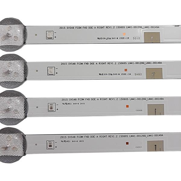 KIT  8 BARRAS DE LED SAMSUNG - Modelo UN48J5200AG UN48J5200 | Código LM41-00120P_LM41-00150A / LM41-00120Q_LM41-00149A REV1.2