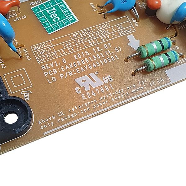 PLACA FONTE LG MODELO 43LH5700 CÓDIGO EAY64310501 EAX66851301(1.5)