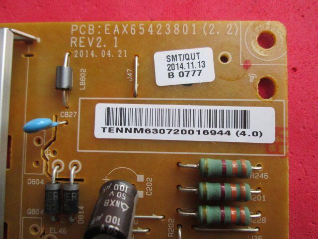 PLACA FONTE LG MODELO 47LB5600 5800 6500 49LB5500 49LB6200 50LB5600 / 6500 CÓDIGO EAX65423801(2.2)