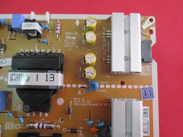 PLACA FONTE LG MODELO 49UH6000 49UH6100 CÓDIGO EAX67066601(1.0)