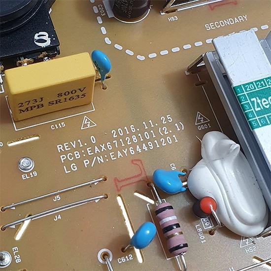 PLACA FONTE LG MODELO 49UJ6525 CÓDIGO EAX67128101(2.1) EAY64491201