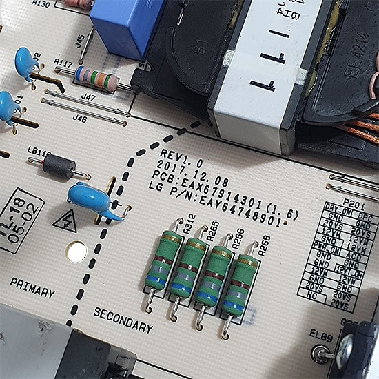 PLACA FONTE LG - Modelo OLED65C8 | Código EAX67914301 (1.6) / EAY64748901
