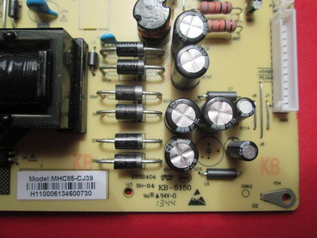PLACA FONTE PHILCO PH39N64DG PH40N70DG MHC85-CJ39 REV 1.0
