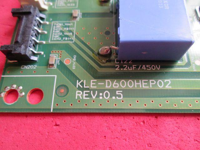PLACA INVERTER LG MODELO 60LA6200 / 60LN5400 / 60LN5600  CÓDIGO 13D-60P1 / EBR76469701 / KLE-D600HEP02 REV:0.5   - Jordão R.Camacho