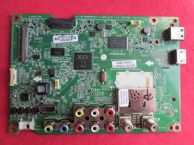 PLACA PRINCIPAL LG MODELO 42LB6200 CÓDIGO EAX65359104(1.1) / EBU62389611