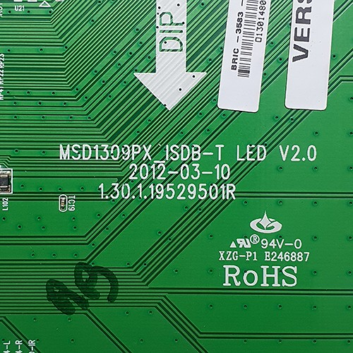 PLACA PRINCIPAL PHILCO - Modelo PH32N53T | Código MSD1309PX_ISDB-T LED V2.0 1.30.1.19529501R