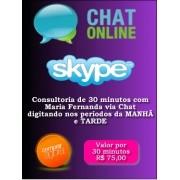 Consultoria Skype digitando Períodos Manhã e Tarde