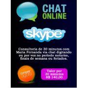 Consultoria Skype digitando ou voz  Período Noturno