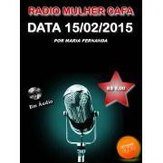 Programa Radio Mulher CAFA 15/02/2015