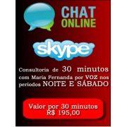Consultoria Skype digitando ou voz  Período Noturno 30 Minutos