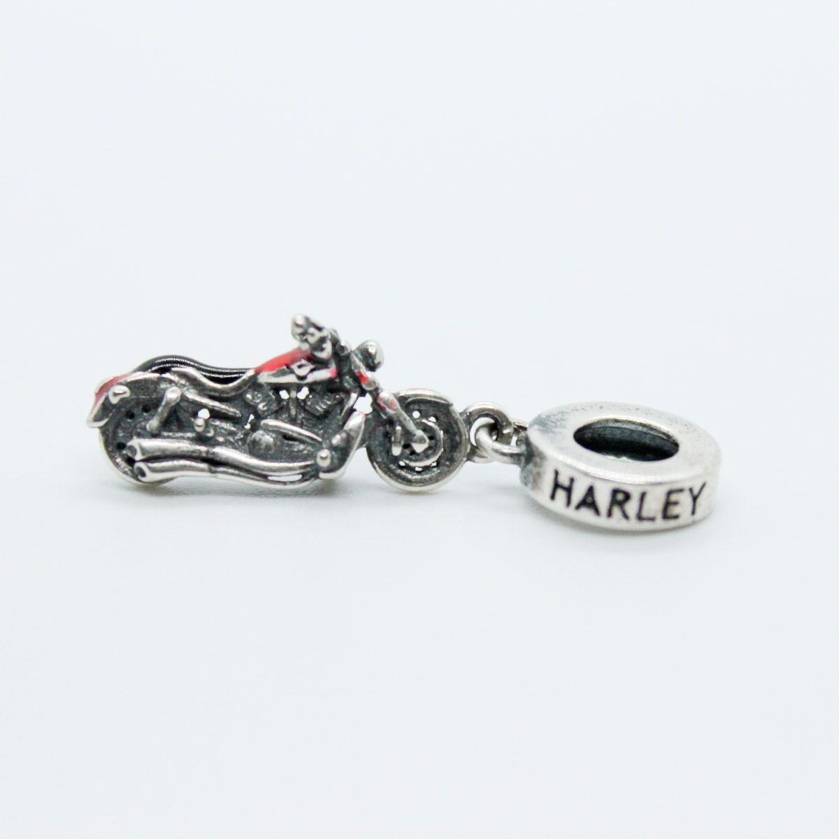 BERLOQUE PINGENTE - MOTO/HARLEY  EM PRATA 925 - ENVELHECIDA