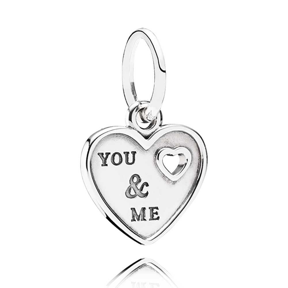 BERLOQUE CORAÇÃO ''YOU & ME '' / ''EU E VOCÊ'' - PRATA 925.