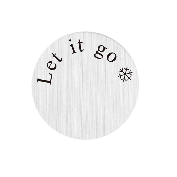 PLACAS PARA CÁPSULA - ''LET IT GO'', TAMANHO 22,5 mm