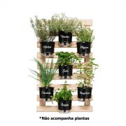 Kit Horta Vertical Gourmet 100cm x 60cm - (Treliça + 7 Vasos + 7 Suportes)