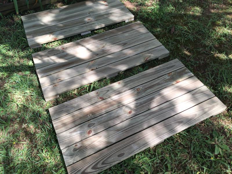 Deck Modular madeira tratada 50x100 cm (01 unidade)