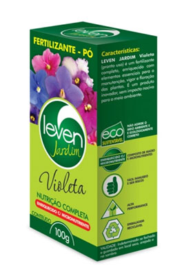 Fertilizante em pó Leven Jardim Violeta 100g