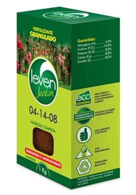 Fertilizante Leven Jardim 04-14-08 Mistura de Grânulos 1kg