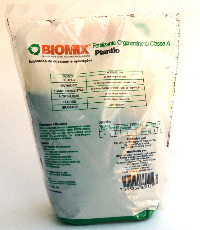 Fertilizante Organomineral Classe A Plantio 1 kg - Biomix