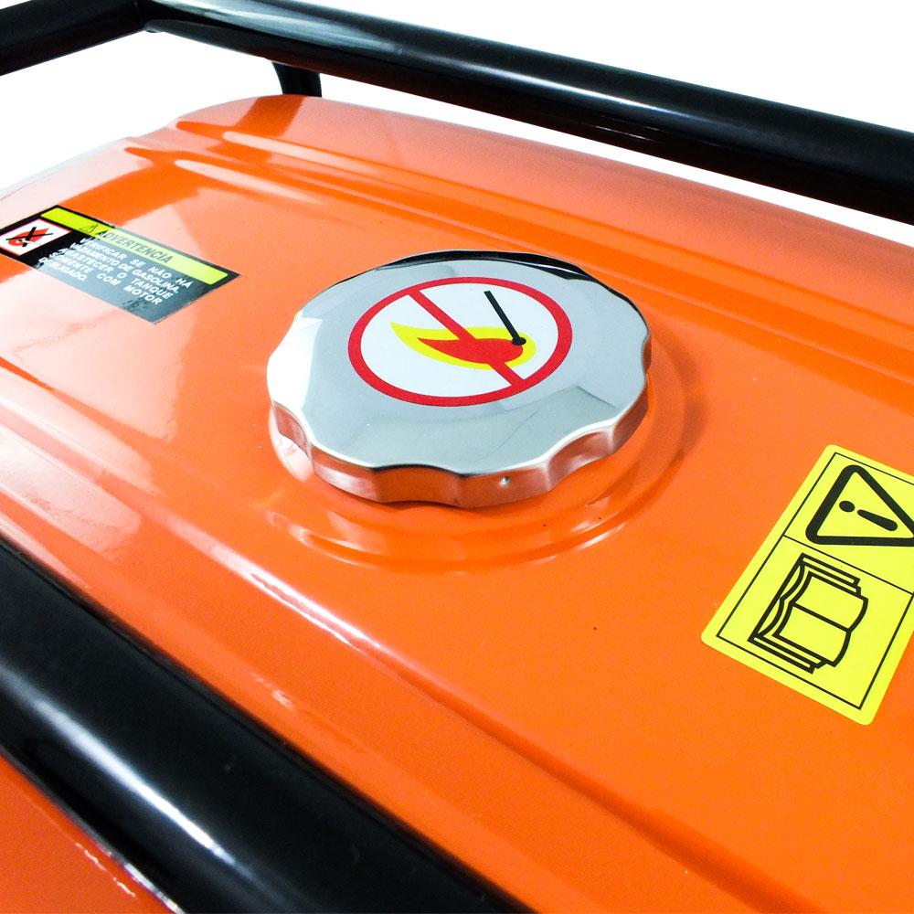 Gerador Elétrico a Gasolina Vulcan VG 3100 - 6.5 HP  3.875kVA Bivolt