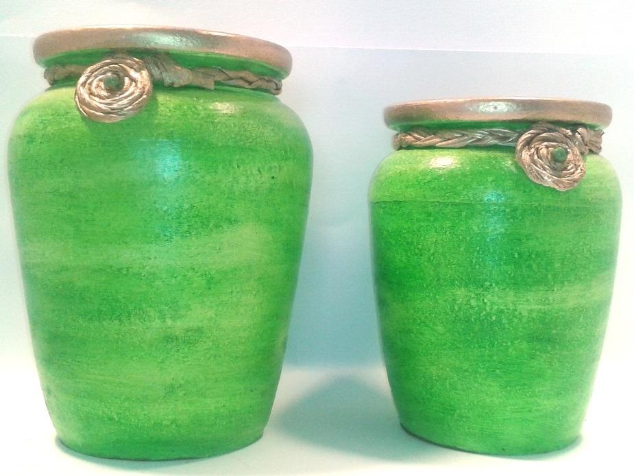 Par de Vasos Verde-Limão