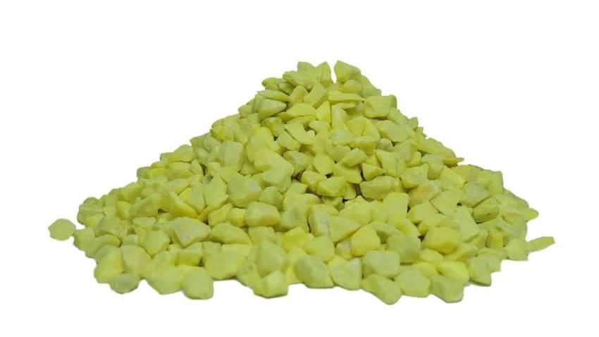 Pedras ornamentais para decoração e aquários 800g - Amarelo Limão