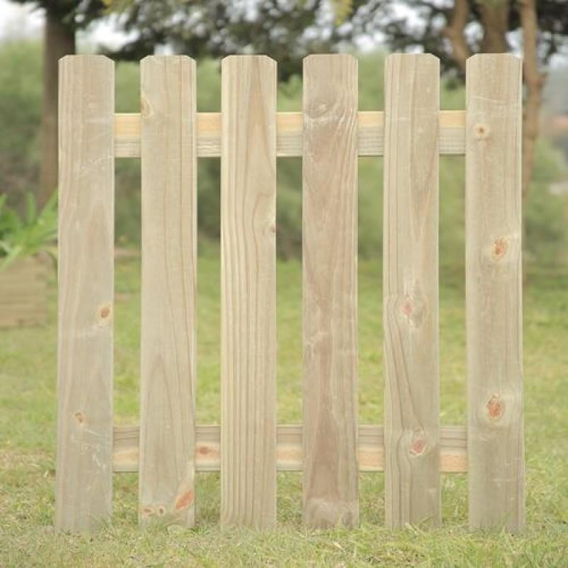 Portão Forte de madeira tratada 100x80cm (01 unidade)