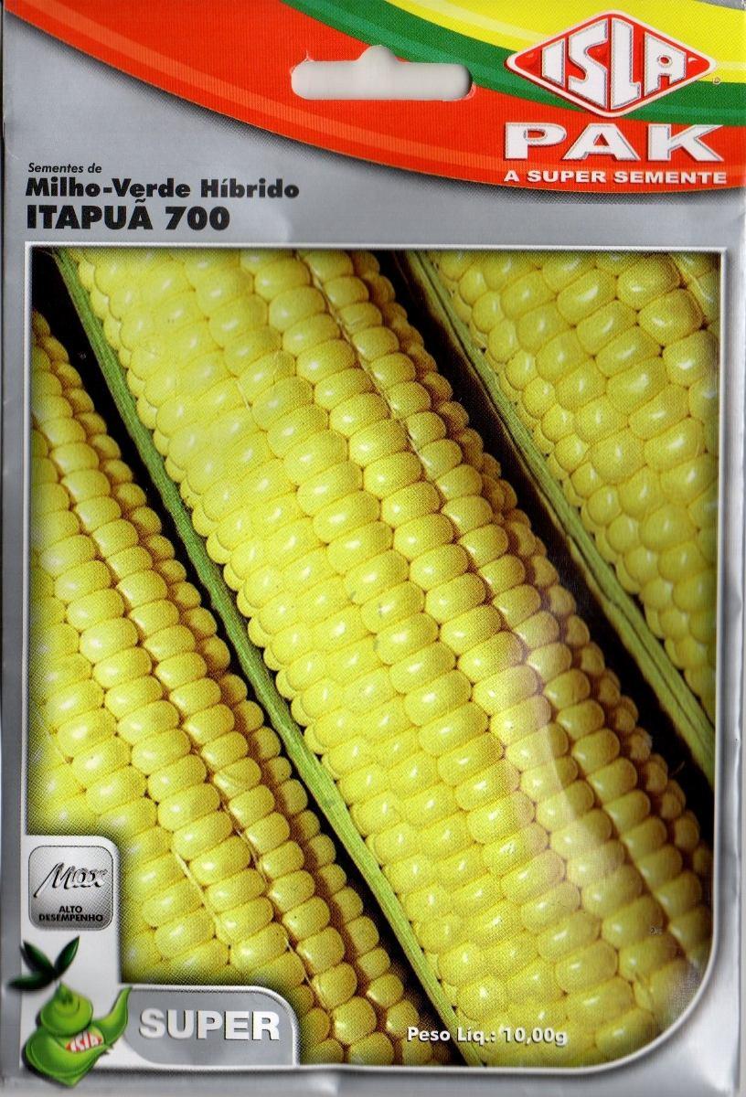 Sementes de Milho-Verde Híbrido Itapuã 700 - Isla Superpak