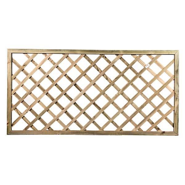 Treliça diagonal de madeira tratada 90x180 cm (01 unidade)