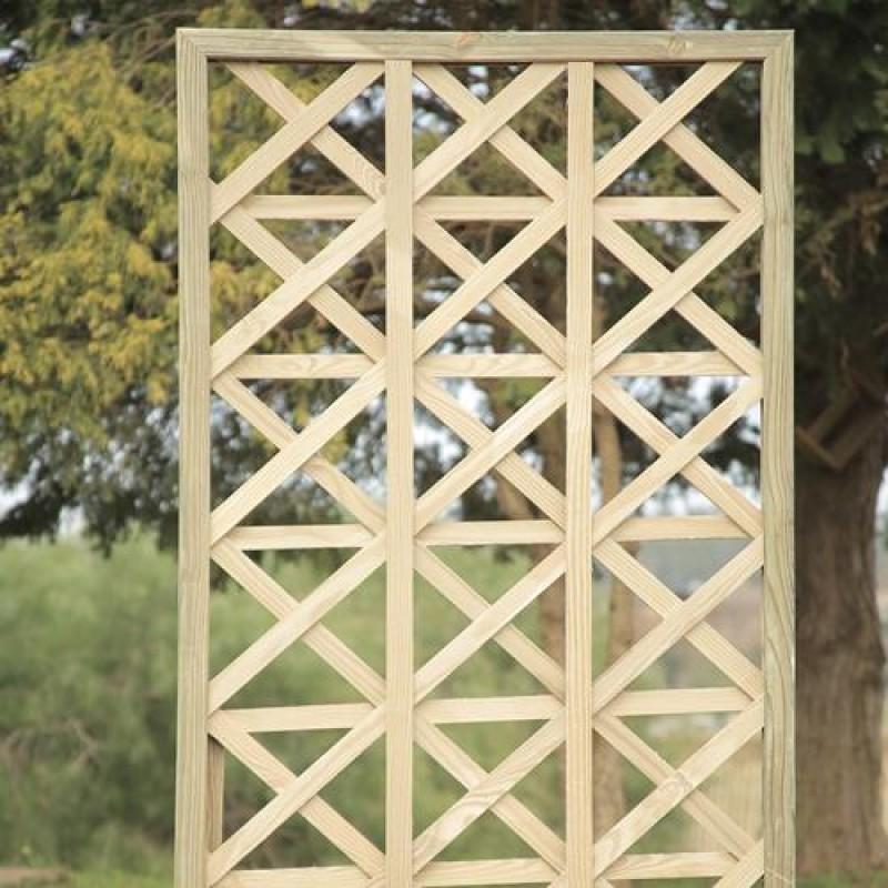 Treliça Estrela de madeira tratada 60x120cm (01 unidade)