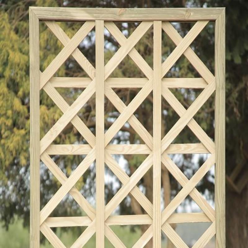 Treliça Estrela de madeira tratada 60x60cm (01 unidade)