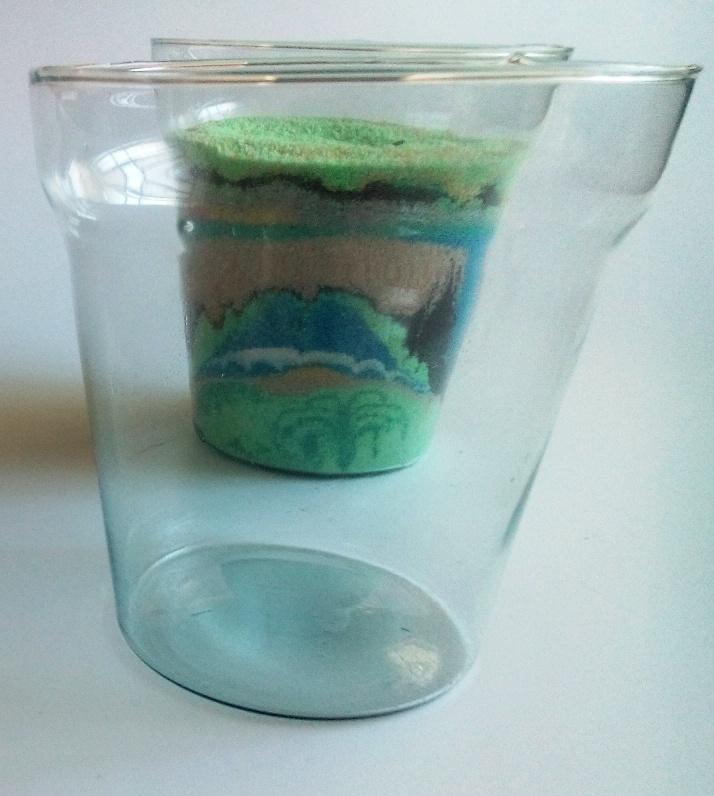 Vaso de vidro 02 para terrário  - RIVIERA