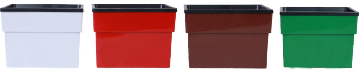 Vaso com reservatório de água e suporte de parede modelo Pequeno 11,5cm x 8,5cm Prático