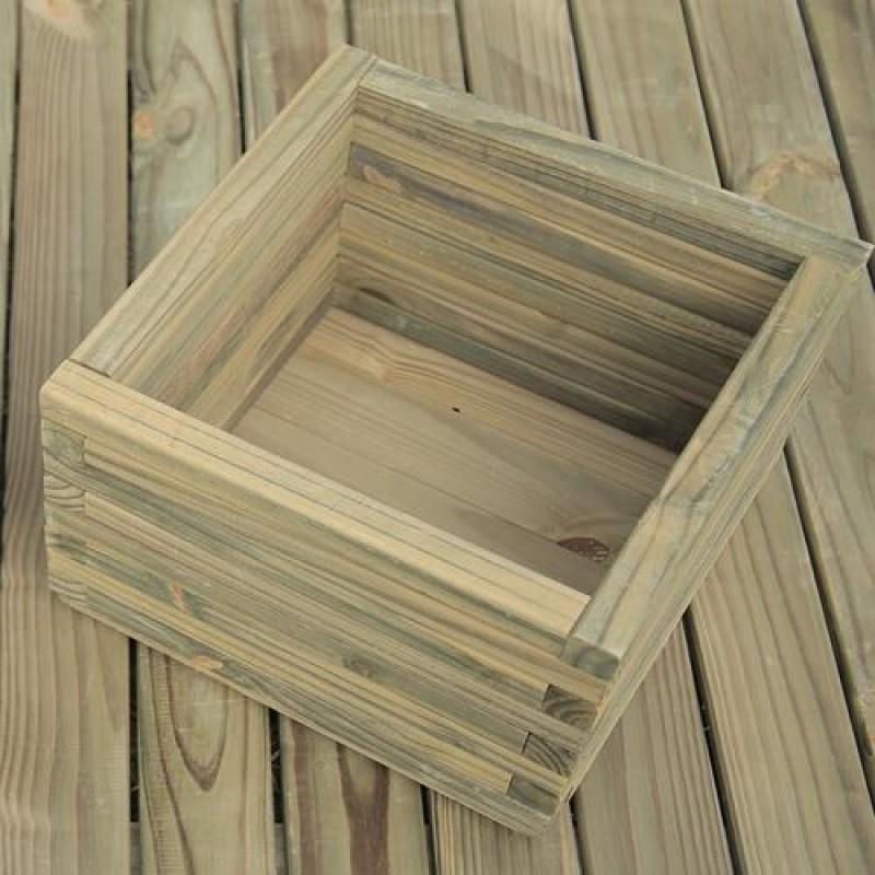 Vaso Quadrado de madeira tratada 25x40cm