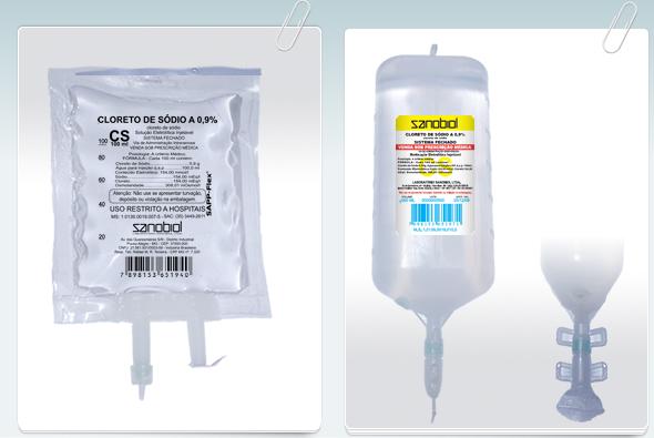 Cloreto de Sódio 0,9% 1L Sanobiol  - Farmácia do Cavalo