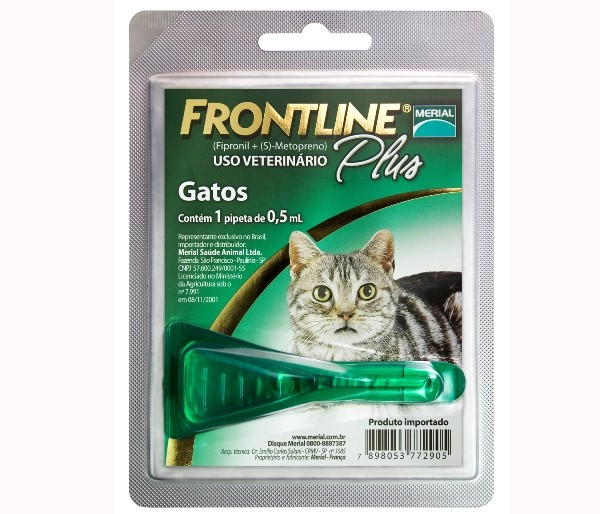 Frontline Plus Gatos - 0,5ml  - Farmácia do Cavalo