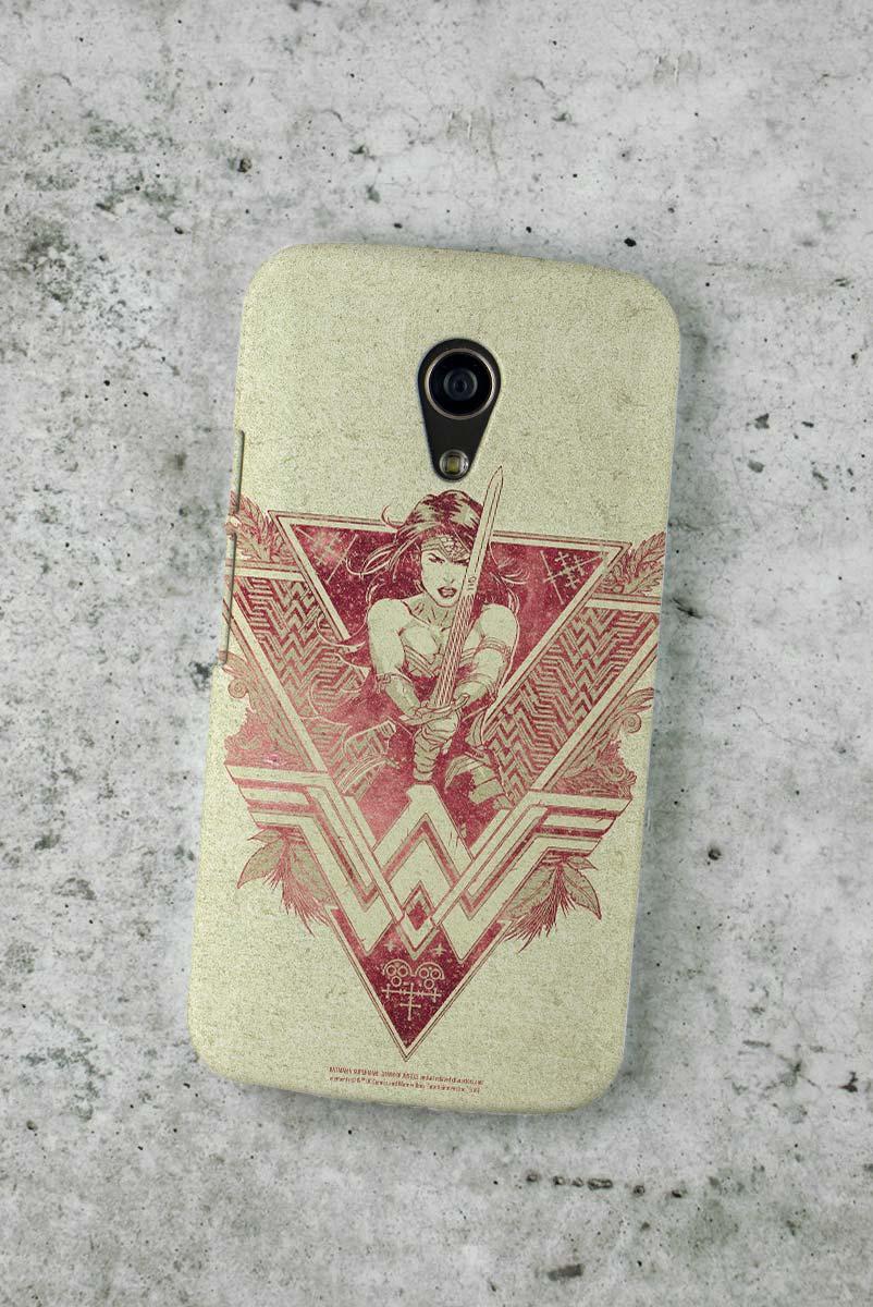 Capa para Motorola Moto G 2 Wonder Woman Warrior