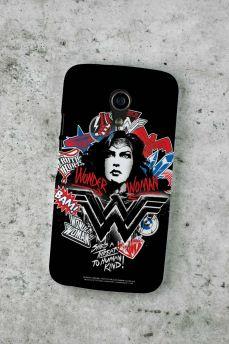 Capa para Motorola Moto G 2 Wonder Woman She´s a Threat