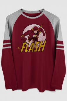 Blusa Manga Longa Masculina The Flash Run