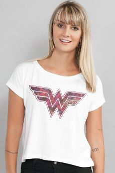 Blusa Feminina Wonder Woman Logo Fashion