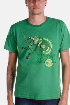 Camiseta Masculina Arqueiro Verde Flechas