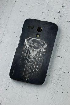 Capa para Motorola Moto G 1 Superman Steel Melting