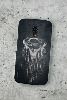 Capa para Motorola Moto G 2 Superman Steel Melting