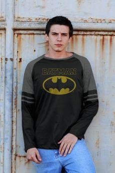 Blusa Manga Longa Masculina Batman Type