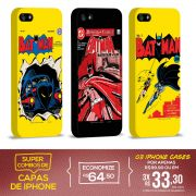 Kit Com 3 Capas de iPhone 5/5S Batman - HQ