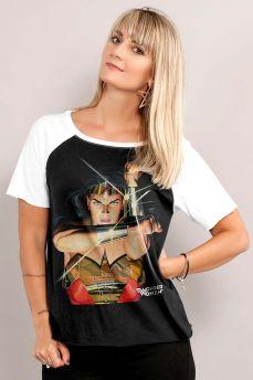 Camiseta Raglan Feminina Wonder Woman Action