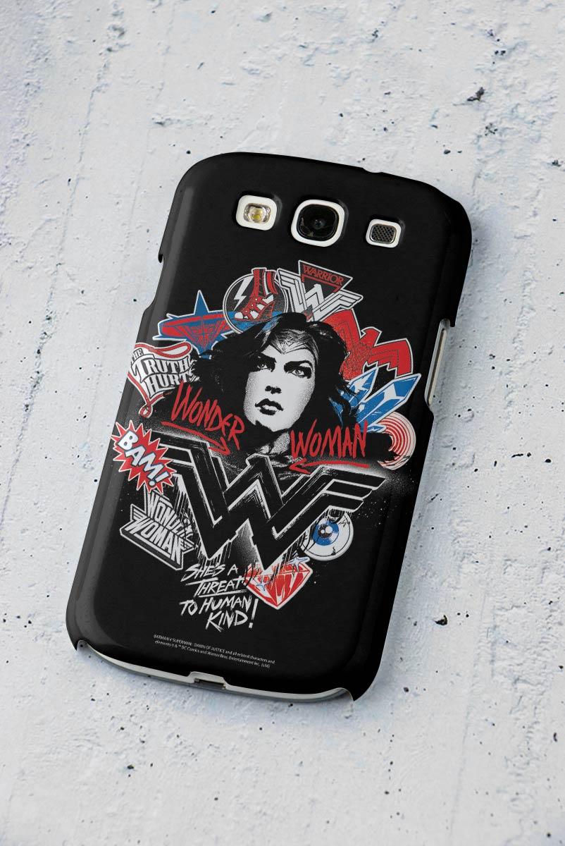 Capa para Samsung Galaxy S3 Wonder Woman She´s a Threat