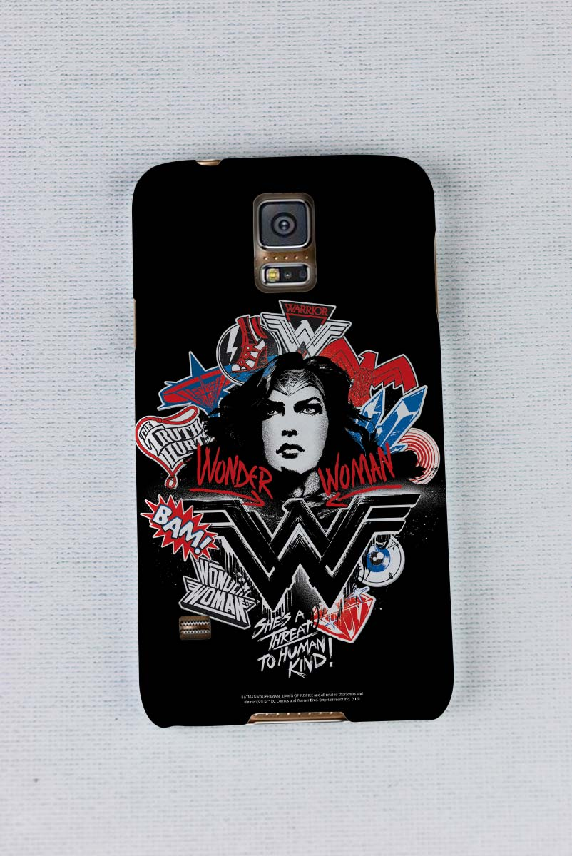 Capa para Samsung Galaxy S5 Wonder Woman She´s a Threat